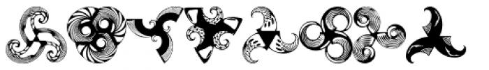 Anns Whirligig Three Font UPPERCASE