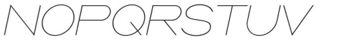 Ano Quarter Wide Italic Font UPPERCASE