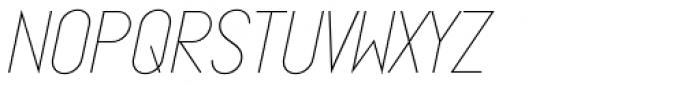 Ano Quarter Wide Italic Font LOWERCASE