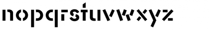 AnoStencil Bold Font LOWERCASE