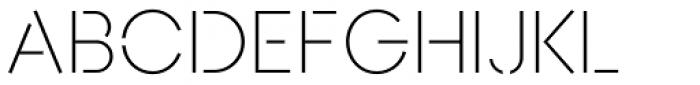 AnoStencil Light Font UPPERCASE