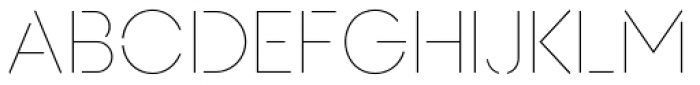AnoStencil Thin Font UPPERCASE