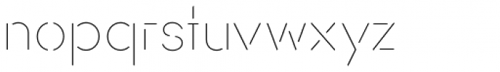 AnoStencil Thin Font LOWERCASE