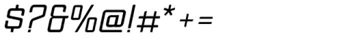 Anorak Light Italic Font OTHER CHARS