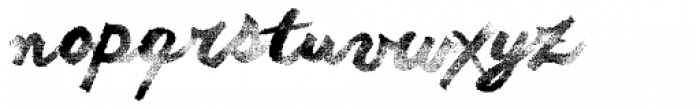 Another Raw Shabby Font LOWERCASE