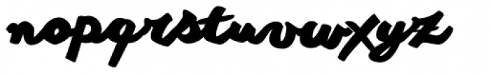 Another Shabby Heavy Font LOWERCASE