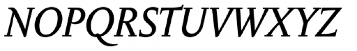 Anselm Ten Italic Font UPPERCASE