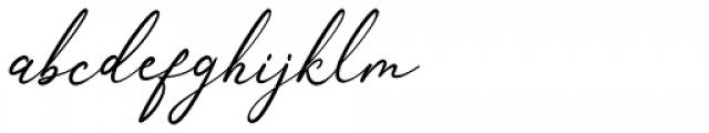 Anthoni Signature Regular Font LOWERCASE