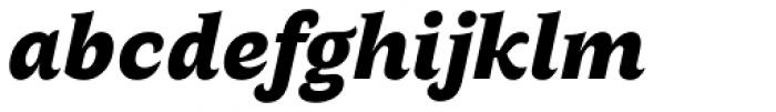 AntiQuasi Black Italic Font LOWERCASE