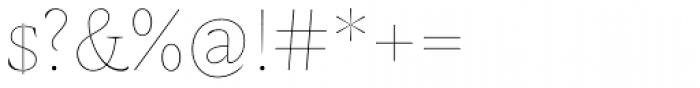 AntiQuasi Thin Caps Font OTHER CHARS