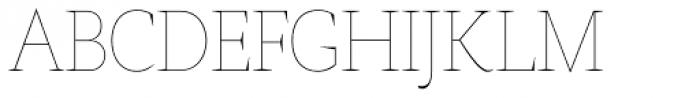 AntiQuasi Thin Caps Font UPPERCASE