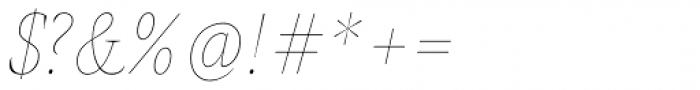 AntiQuasi Thin Italic Font OTHER CHARS