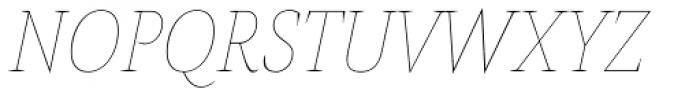 AntiQuasi Thin Italic Font UPPERCASE