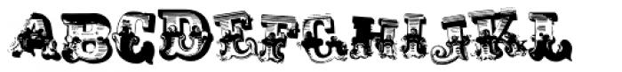 AntiRomantic Displaced Font UPPERCASE