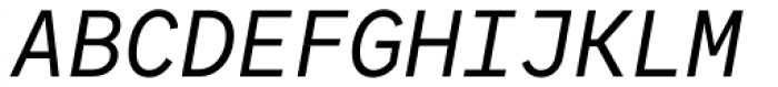 Antikor Family mn News Italic Font UPPERCASE