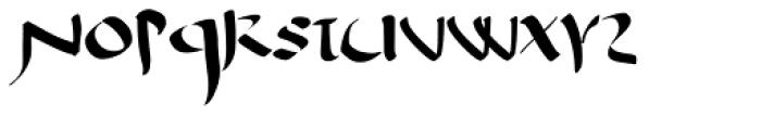 Antioch Uncial Font UPPERCASE
