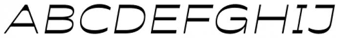 Antipol Extended Light Italic Font UPPERCASE