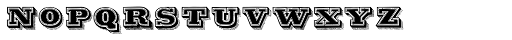 Antiqua Double12 Font LOWERCASE