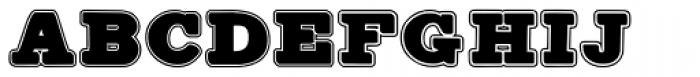 Antiqua Shaded 2 Font UPPERCASE
