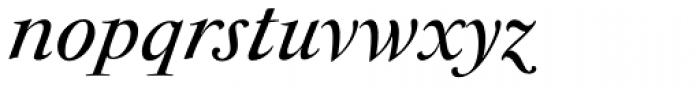 Antique Moderne Italic Font LOWERCASE
