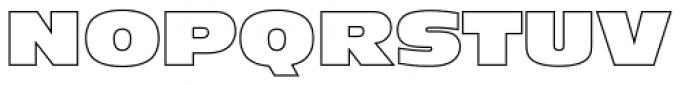 Antique Olive Nord Outline P Regular Font UPPERCASE
