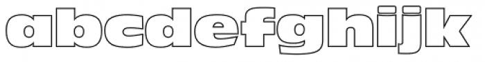 Antique Olive Nord Outline P Regular Font LOWERCASE