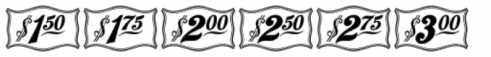 Antique Price Tags JNL Regular Font UPPERCASE