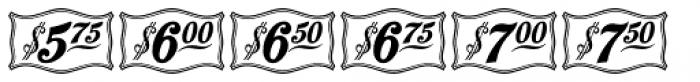 Antique Price Tags JNL Regular Font LOWERCASE