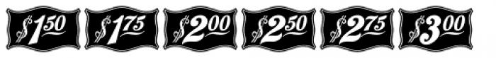 Antique Price Tags JNL Reverse Font UPPERCASE