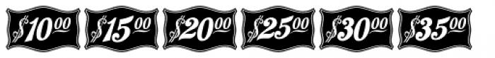 Antique Price Tags JNL Reverse Font LOWERCASE