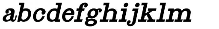 Antique Slabserif Oblique JNL Font LOWERCASE