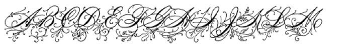 Antique Spenserian Ornamented Font UPPERCASE