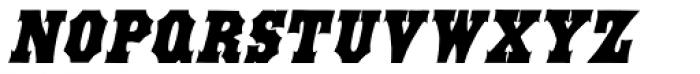 Antique Tuscan Condensed Italic Font UPPERCASE