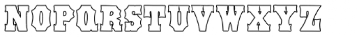 Antique Tuscan Condensed Outline Font UPPERCASE