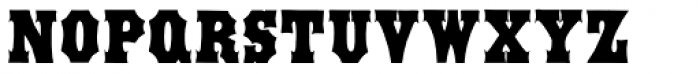 Antique Tuscan Condensed Font UPPERCASE