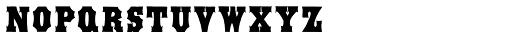 Antique Tuscan Condensed Font LOWERCASE