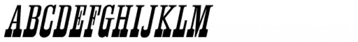 Antique Unique Oblique JNL Font UPPERCASE