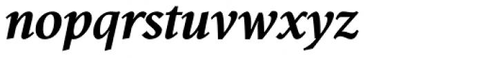 Antium Black Italic Font LOWERCASE