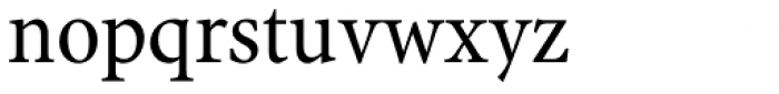 Antium SemiCondensed Regular Font LOWERCASE
