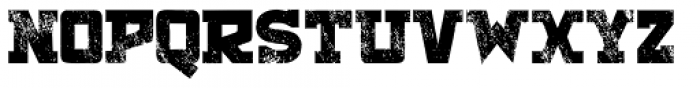 Antler Condensed North Letterpress Font UPPERCASE
