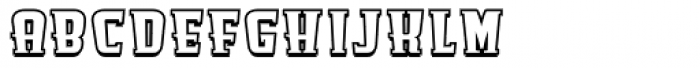 Antman Outline Font LOWERCASE