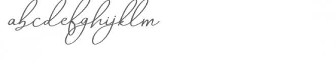 Aneisha Italic Font LOWERCASE