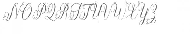 Aneisha Script Bold Font UPPERCASE