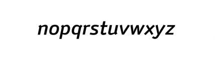 Anomoly Complete Medium Italic Font LOWERCASE