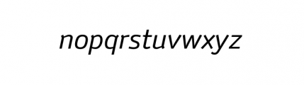 Anomoly Complete Regular Italic Font LOWERCASE