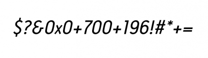Antitled Complete Regular Italic Font OTHER CHARS