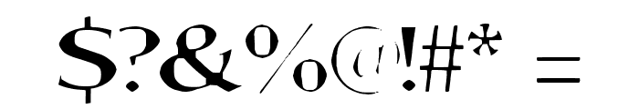 Aortal Hard Font OTHER CHARS