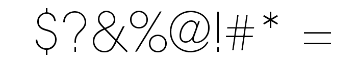 Aovel Neo Ultralight Font OTHER CHARS