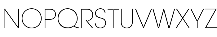 Aovel Neo Ultralight Font UPPERCASE