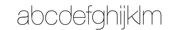 AovelSans-Light Font LOWERCASE